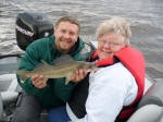 Mom with a beautiful picture fish