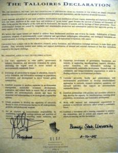 Talloires Declaration